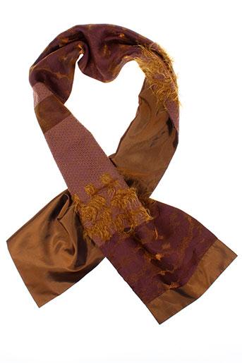 ganteb et s foulards femme de couleur marron