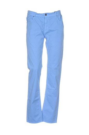 impaqt pantalons femme de couleur bleu