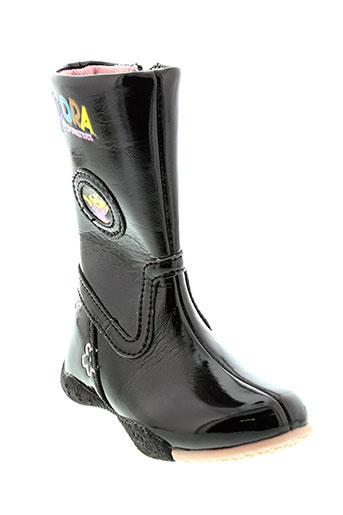 dora bottes fille de couleur noir