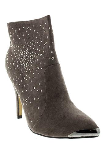 top et or boots femme de couleur gris