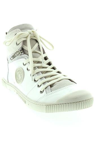 pataugas baskets femme de couleur blanc