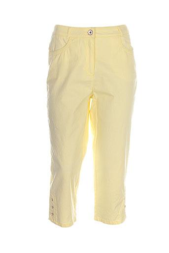 steilmann pantacourts femme de couleur jaune