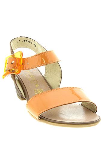 hirica sandales et nu et pieds femme de couleur orange