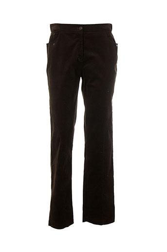 Pantalon casual marron CHRISMAS'S pour femme