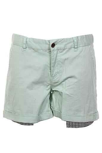 eleven paris shorts et bermudas fille de couleur vert