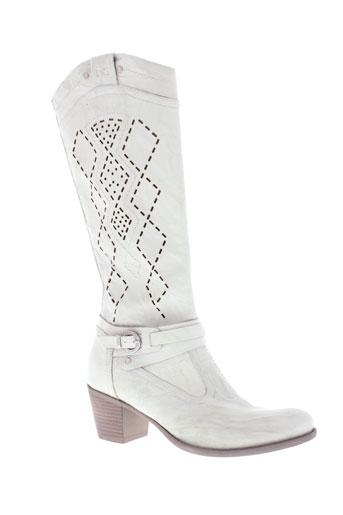 nero et giardini bottes femme de couleur blanc
