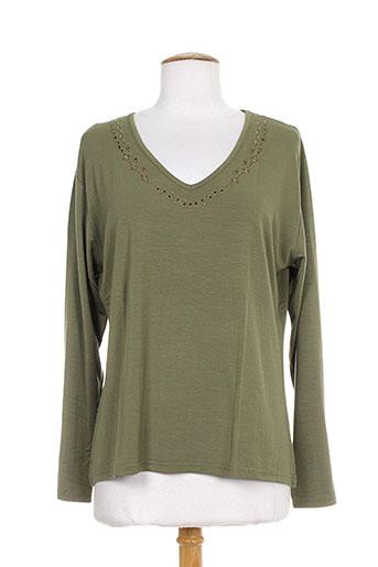 bleu de chine t-shirts femme de couleur vert