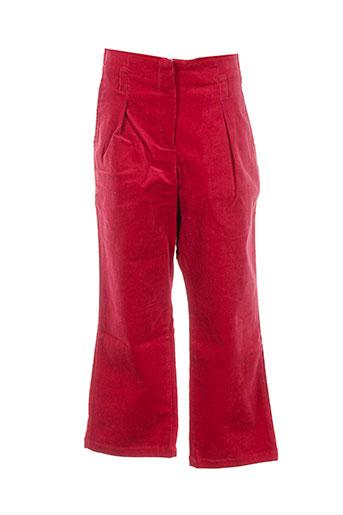 orchestra pantalons fille de couleur rouge