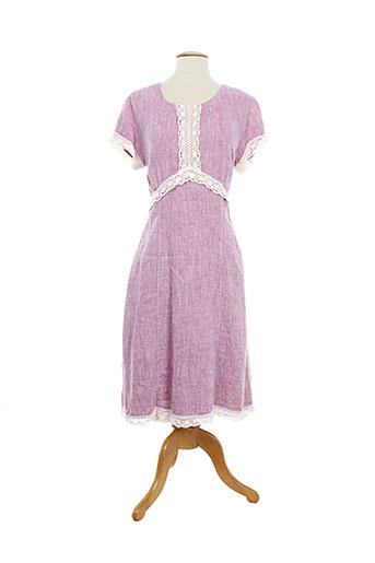 aurea vita robes femme de couleur violet