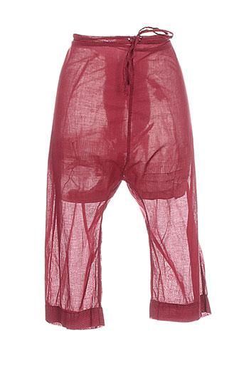 les piplett's pantacourts femme de couleur rouge