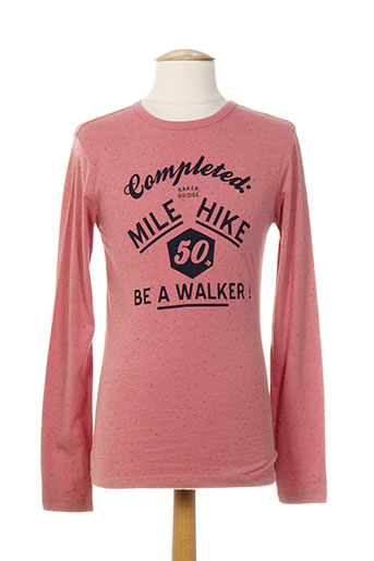baker bridge t-shirts garçon de couleur rose