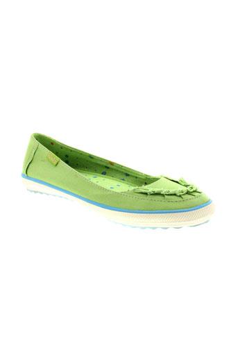 keds chaussures femme de couleur vert