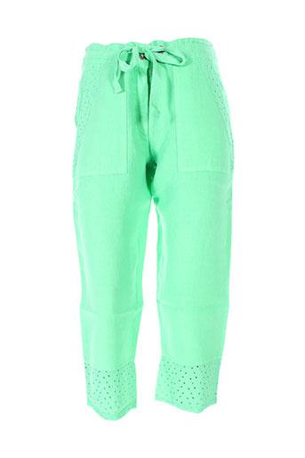 maloka pantacourts femme de couleur vert