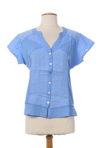 maloka chemises femme de couleur bleu