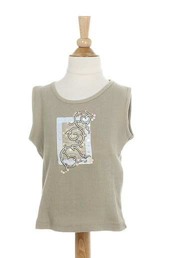 contre vents et marees t-shirts fille de couleur beige