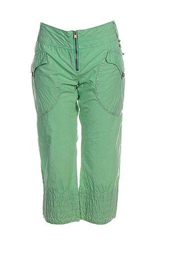 diesel pantacourts fille de couleur vert
