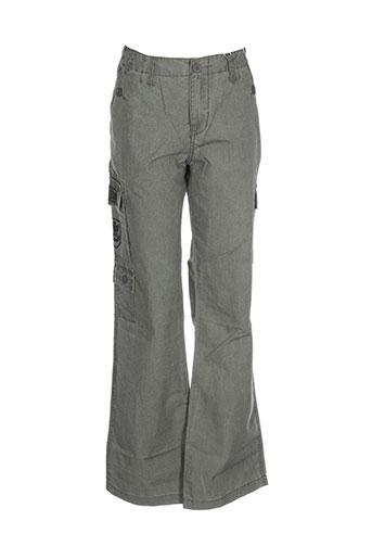 corleone pantalons fille de couleur vert