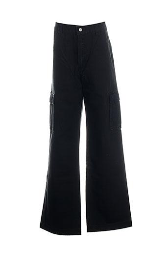 quiksilver pantalons garçon de couleur noir