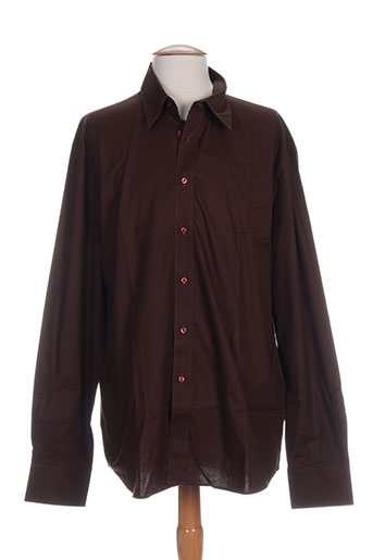 daniel hechter chemises homme de couleur marron
