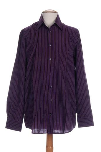 daniel hechter chemises homme de couleur violet