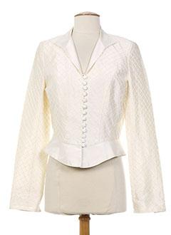 Veste casual beige CHRISTIE DE LA RUE pour femme