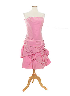 Robe mi-longue rose CHRISTIE DE LA RUE pour femme