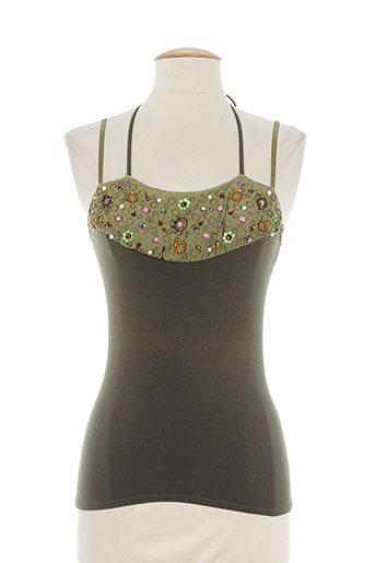nathalie garcon chemises femme de couleur vert