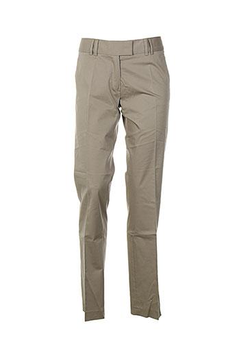 pablo gerard darel pantalons femme de couleur beige