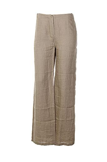 zyga pantalons et decontractes femme de couleur marron