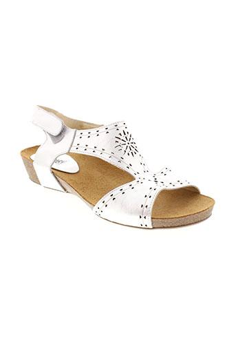 chamby sandales et nu et pieds femme de couleur gris