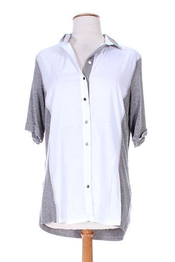elena miro chemises femme de couleur gris