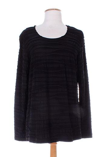 erfo t-shirts femme de couleur noir
