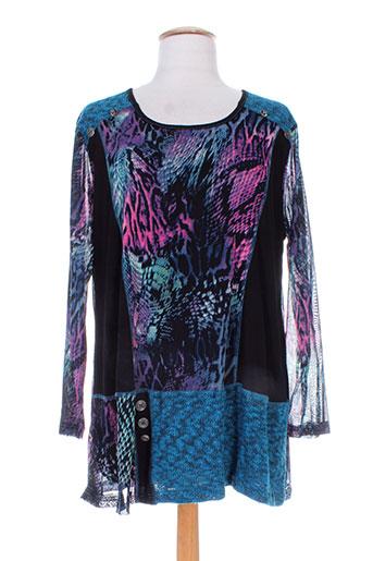purplerose chemises femme de couleur bleu