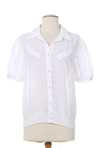 zoe la fee chemises femme de couleur blanc