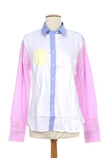 xoos chemises femme de couleur blanc