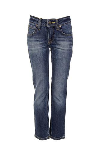 lee jeans et coupe et droite garcon de couleur bleu