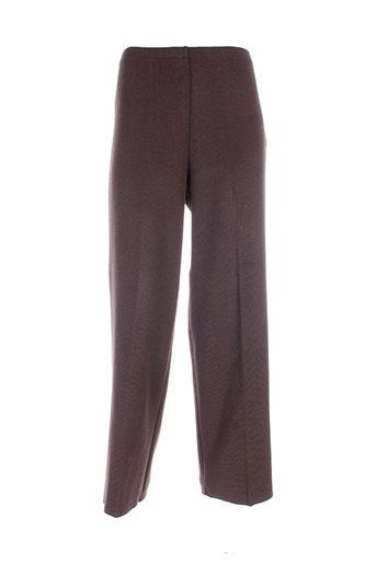royal mer bretagne pantalons femme de couleur marron