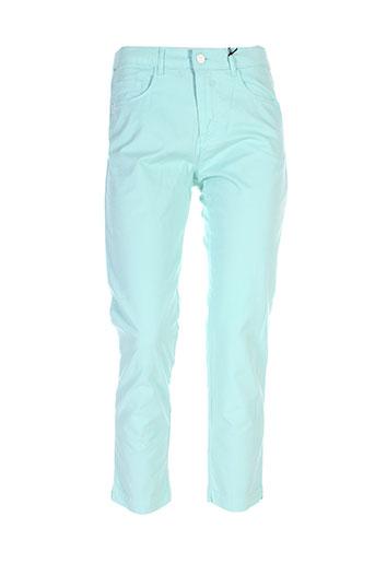 new man pantalons femme de couleur vert