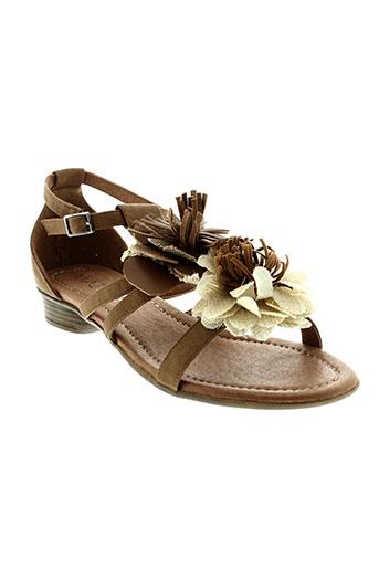 madison sandales et nu et pieds femme de couleur marron