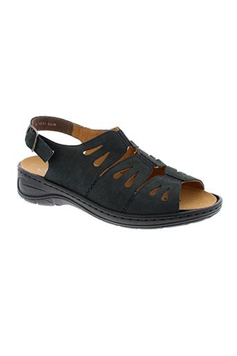 jenny sandales et nu et pieds femme de couleur bleu