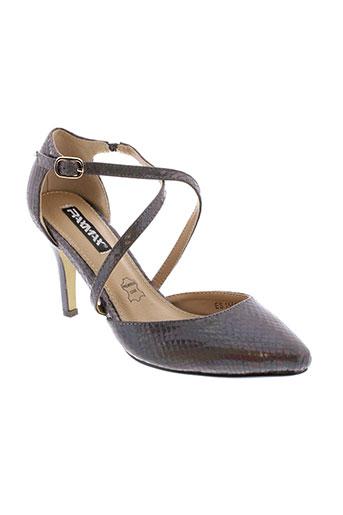 raxmax escarpins femme de couleur marron