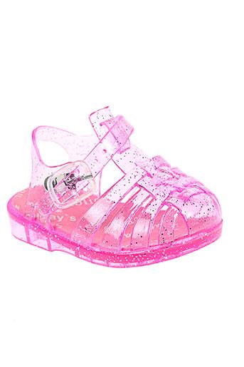 laulina sandales et nu et pieds fille de couleur rose