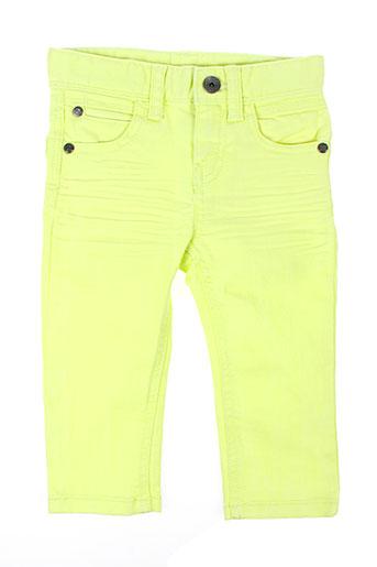 benetton pantalons fille de couleur jaune