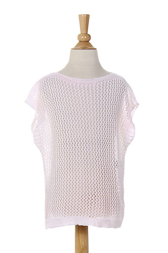 Pull col rond rose BENETTON pour fille
