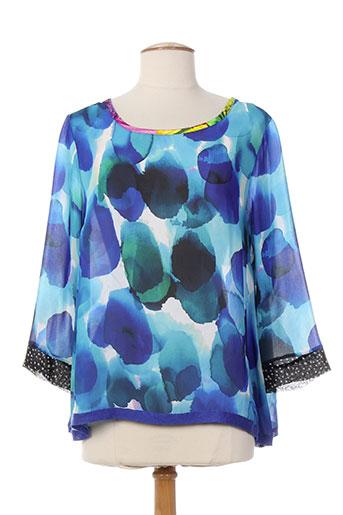 olivier philips t-shirts femme de couleur bleu