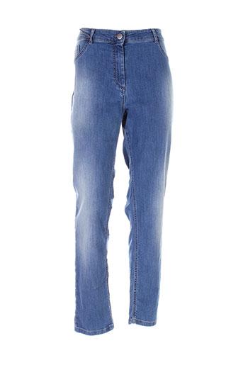 persona jeans femme de couleur bleu