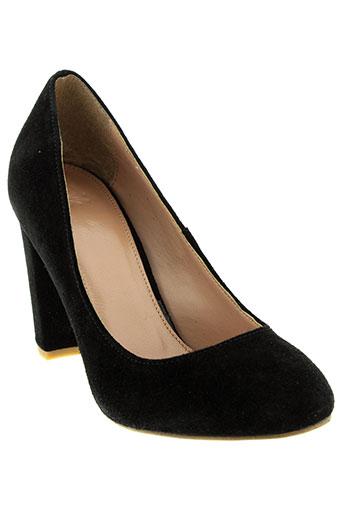 benetton chaussures femme de couleur noir