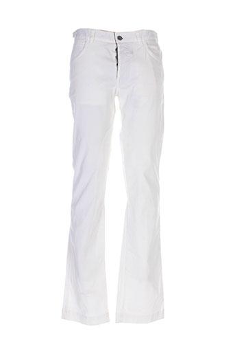 la et martina pantalons et decontractes homme de couleur blanc