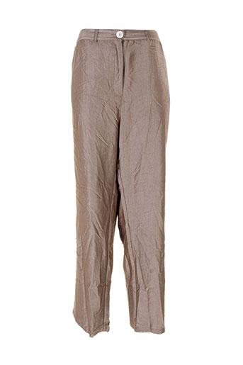 Pantalon chic marron BE THE QUEEN pour femme