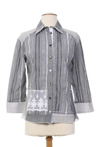 coco menthe chemises femme de couleur gris